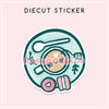 TEA TIME DIECUT STICKER - DC017 - KeenaPrints planner stickers bullet journal diary sticker emoji stationery kawaii cute creative planner