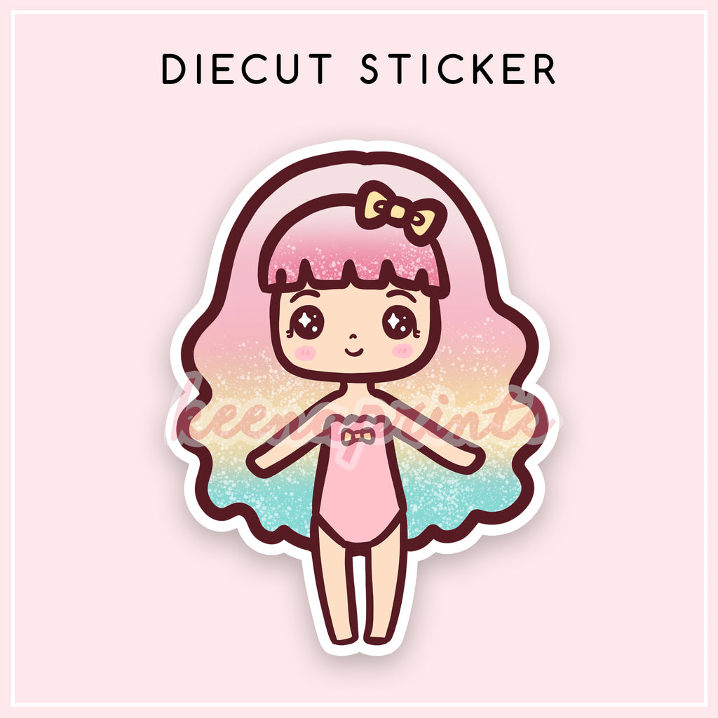 SWEET LOLITA OHLALA DIECUT STICKER - DC008 - KeenaPrints planner stickers bullet journal diary sticker emoji stationery kawaii cute creative planner