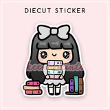 PLANNER STACK LOLA DIECUT STICKER - DC013 - KeenaPrints planner stickers bullet journal diary sticker emoji stationery kawaii cute creative planner