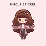 CHIC LOLITA DIECUT STICKER - DC026 - KeenaPrints planner stickers bullet journal diary sticker emoji stationery kawaii cute creative planner