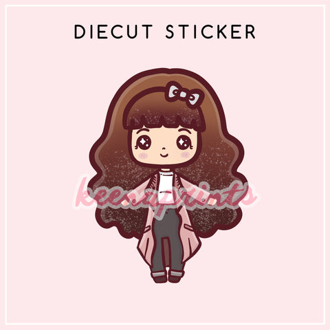 BIRTHDAY LOLITA DIECUT STICKER - DC015