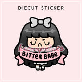 BITTERBABE LOLA DIECUT STICKER - DC020 - KeenaPrints planner stickers bullet journal diary sticker emoji stationery kawaii cute creative planner