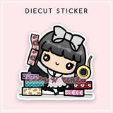 WASHI DAY LOLA DIECUT STICKER - DC010 - KeenaPrints planner stickers bullet journal diary sticker emoji stationery kawaii cute creative planner
