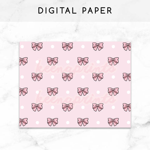 SWEET LOLITA PINK DIGITAL PAPER PRINTABLE