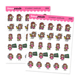 STUDENT STICKERS KEENACHI SAMPLER Z028 - SET OF 24 - KeenaPrints planner stickers bullet journal diary sticker emoji stationery kawaii cute creative planner