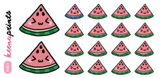 WATERMELON DAILY STICKERS A501 - SET OF 18 - KeenaPrints planner stickers bullet journal diary sticker emoji stationery kawaii cute creative planner