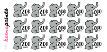ZOO DAY ELEPHANT DAILY STICKERS A591 - SET OF 15 - KeenaPrints planner stickers bullet journal diary sticker emoji stationery kawaii cute creative planner