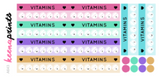 VITAMIN TRACKER DAILY STICKERS A643 - SET OF 18