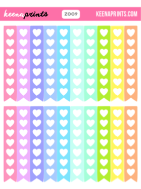 CHECKLIST FLAGS COLLECTION PRINTABLE STICKERS - PASTELS