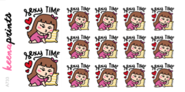SEXY TIME STICKERS KEENACHI A733 - SET OF 14 - KeenaPrints planner stickers bullet journal diary sticker emoji stationery kawaii cute creative planner