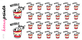 NOODLE STICKERS DAILY A735 - SET OF 26