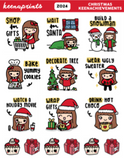 CHRISTMAS KEENACHIEVEMENTS KEENACHI STICKERS Z024 - SET OF 15