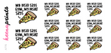 MY HEART SAYS PIZZA STICKERS DAILY A776 - SET OF 11 - KeenaPrints planner stickers bullet journal diary sticker emoji stationery kawaii cute creative planner