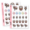EASTER THEMED STICKERS KEENACHI Z063 - SET OF 22 - KeenaPrints planner stickers bullet journal diary sticker emoji stationery kawaii cute creative planner