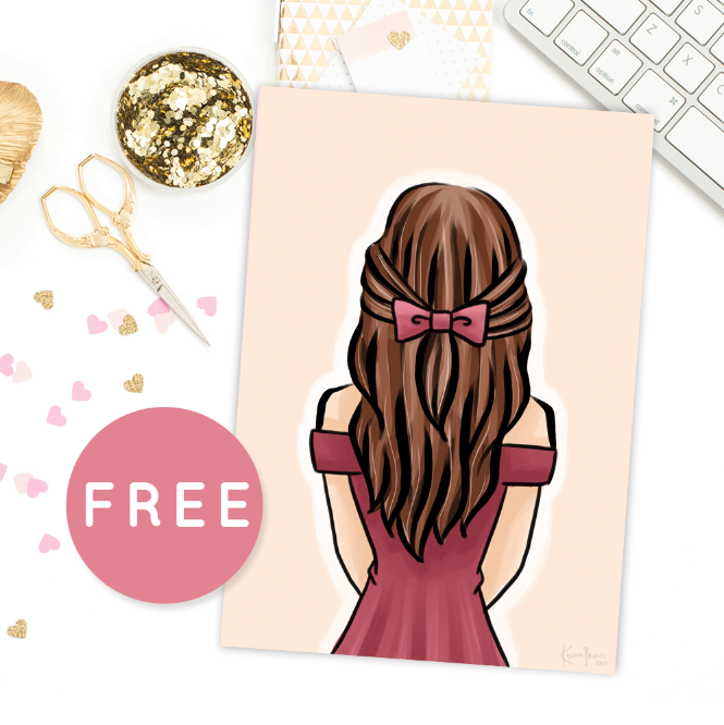 LOVELY GIRL V1 FREE PRINTABLE [A5 SIZE]