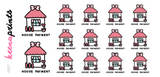 HOUSE PAYMENT DAILY STICKERS A901 - SET OF 14