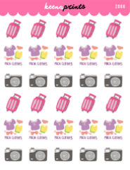 TRAVEL DAILY STICKERS Z066 - SET OF 30