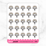 KEEMOJI PAPERCLIP STICKERS K005 - KeenaPrints planner stickers bullet journal diary sticker emoji stationery kawaii cute creative planner