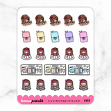 KEENACHI PLANNING STICKERS K009 - KeenaPrints planner stickers bullet journal diary sticker emoji stationery kawaii cute creative planner