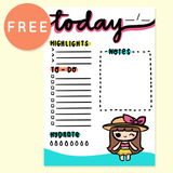 KEENACHI TROPICAL PARADISE PLANNER FREE PRINTABLE [A5 SIZE] - KeenaPrints planner stickers bullet journal diary sticker emoji stationery kawaii cute creative planner