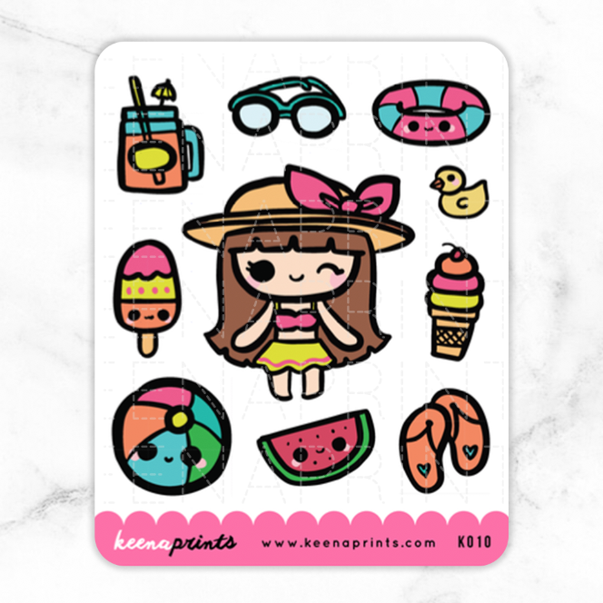 TROPICAL PARADISE KEENACHI STICKERS K010