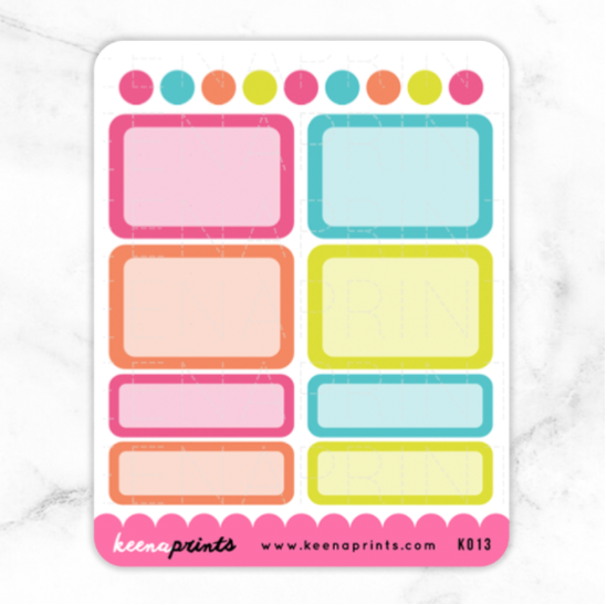 TROPICAL PARADISE BOXES STICKERS K013 - KeenaPrints planner stickers bullet journal diary sticker emoji stationery kawaii cute creative planner