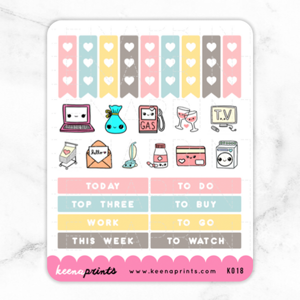 BACK TO SCHOOL HEADERS & CHECKLIST STICKERS K018