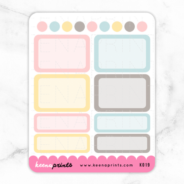 BACK TO SCHOOL BOXES STICKERS K019