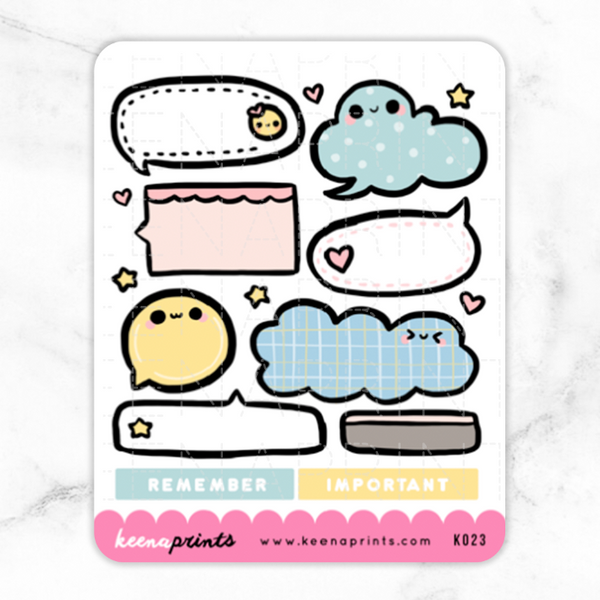 BACK TO SCHOOL MEMO STICKERS K023