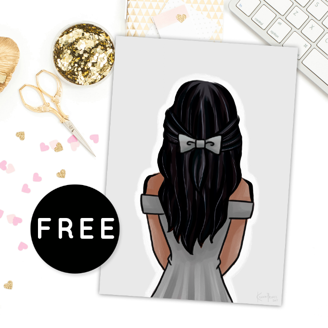 LOVELY GIRL V5 FREE PRINTABLE [A5 SIZE]