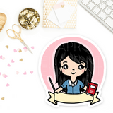 PRE-MADE CHIBI TEACHER WEDNESDAY PRINTABLE CLIP ART