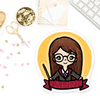 GRYFFINDOR WIZARD KEENACHI PRE-MADE CHIBI PRINTABLE CLIP ART - KeenaPrints planner stickers bullet journal diary sticker emoji stationery kawaii cute creative planner