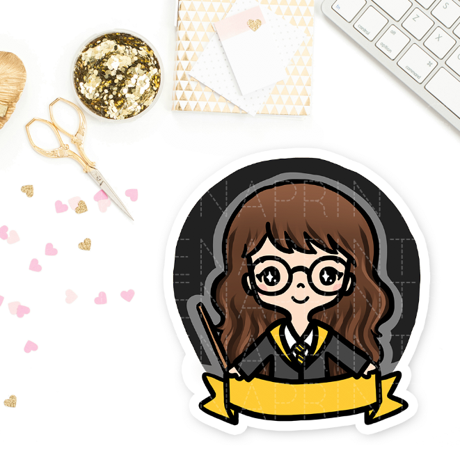 HUFFLEPUFF WIZARD KEENACHI PRE-MADE CHIBI PRINTABLE CLIP ART - KeenaPrints planner stickers bullet journal diary sticker emoji stationery kawaii cute creative planner