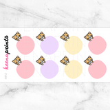 CIRCLE CORGI STICKERS A912 - KeenaPrints planner stickers bullet journal diary sticker emoji stationery kawaii cute creative planner