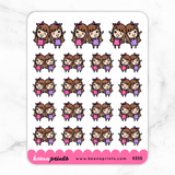BFF KEENACHI COMBO STICKERS K056 - KeenaPrints planner stickers bullet journal diary sticker emoji stationery kawaii cute creative planner