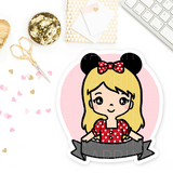 PRE-MADE CHIBI MINNIE KEENARI PRINTABLE CLIP ART - KeenaPrints planner stickers bullet journal diary sticker emoji stationery kawaii cute creative planner