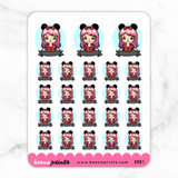 MINNIE PRINCESS LABELS COMBO STICKERS K061 - KeenaPrints planner stickers bullet journal diary sticker emoji stationery kawaii cute creative planner