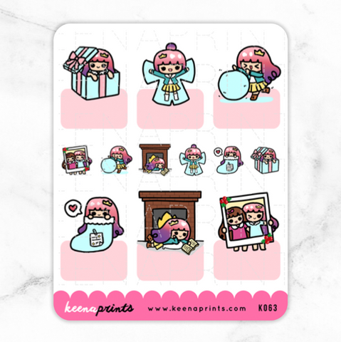 TROPICAL PARADISE KAWAII BOXES STICKERS K012