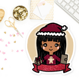 COZY HOLIDAY PLANNER KEENAMI PRE-MADE CHIBI PRINTABLE CLIP ART
