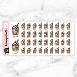 FRAPPE STICKERS DAILY - L037 - KeenaPrints planner stickers bullet journal diary sticker emoji stationery kawaii cute creative planner