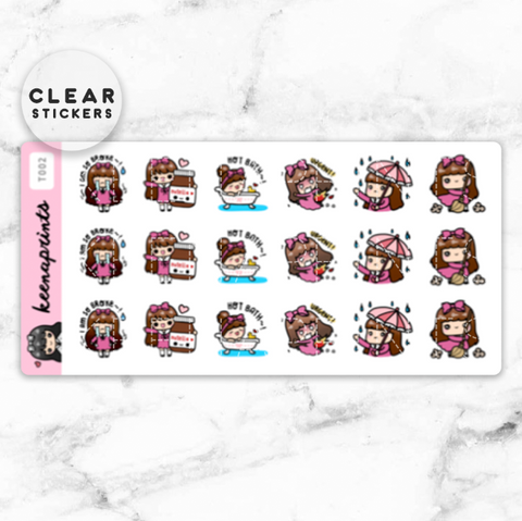 FINANCE LABEL CLEAR STICKERS - T015