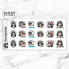 LOLA SAMPLER 1 CLEAR STICKERS - T001 - KeenaPrints planner stickers bullet journal diary sticker emoji stationery kawaii cute creative planner