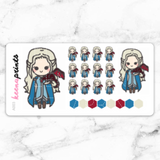 MOTHER OF DRAGONS STICKERS CHIBI - A003 - KeenaPrints planner stickers bullet journal diary sticker emoji stationery kawaii cute creative planner