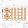 DOUGHNUTS STICKERS DECO - A538 - KeenaPrints planner stickers bullet journal diary sticker emoji stationery kawaii cute creative planner