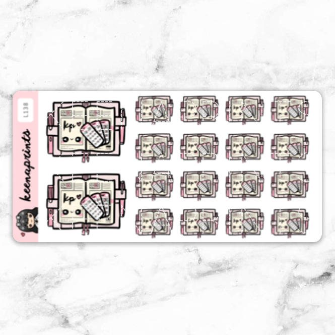 KP ESSENTIALS STICKERS DAILY - L138 - KeenaPrints planner stickers bullet journal diary sticker emoji stationery kawaii cute creative planner