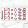 SWEET LOLITA STICKERS DAILY - L147 - KeenaPrints planner stickers bullet journal diary sticker emoji stationery kawaii cute creative planner