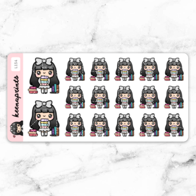 PLANNER ADDICT STICKERS LOLA - L154 - KeenaPrints planner stickers bullet journal diary sticker emoji stationery kawaii cute creative planner