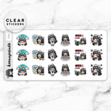 LOLA SAMPLER 2 CLEAR STICKERS - T005 - KeenaPrints planner stickers bullet journal diary sticker emoji stationery kawaii cute creative planner