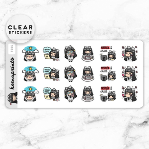 WEDNESDAY ESSENTIALS CLEAR STICKERS - Z100