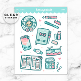 TEA TIME LOLITA DECO CLEAR STICKERS - Z097 - KeenaPrints planner stickers bullet journal diary sticker emoji stationery kawaii cute creative planner